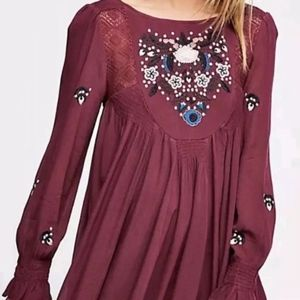 FREE PEOPLE Mohave Embroidered Mini Dress